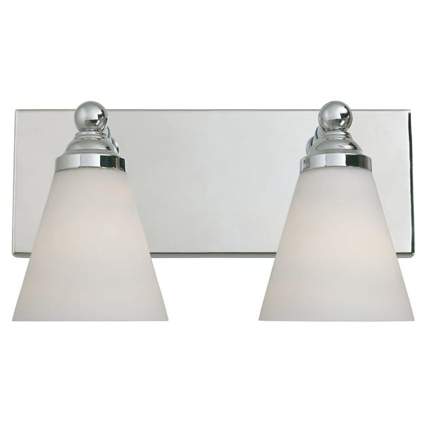 Designers Fountain 6492 Contemporary Two Light 200W Bathroom Wall Fixture from the Hudson Collection