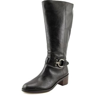 Coach Carolina Round Toe Leather Knee High Boot