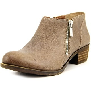 Lucky Brand Banda Women Round Toe Leather Brown Bootie