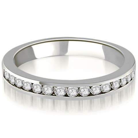 0.30 CT Stackable Round Diamond Channel Wedding Band in 14KT Gold