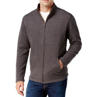 Weatherproof NEW Gray Men's Size Medium L Full Zip Quilted Jacket