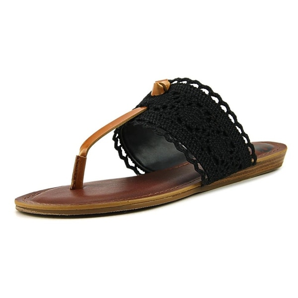 Fergalicious Stella Women Open Toe Canvas Black Slides Sandal