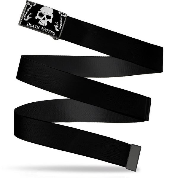 Death Eaters Death Mark Skull Snakes Reverse Brushed Cam Black Webbing Web Belt