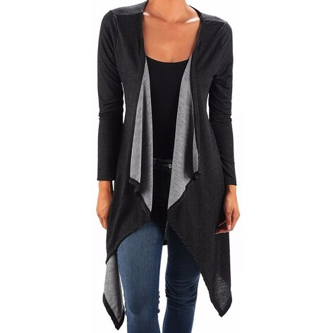 Funfash Plus Size Women Gothic Black Kimono Coat Cardigan Made in USA