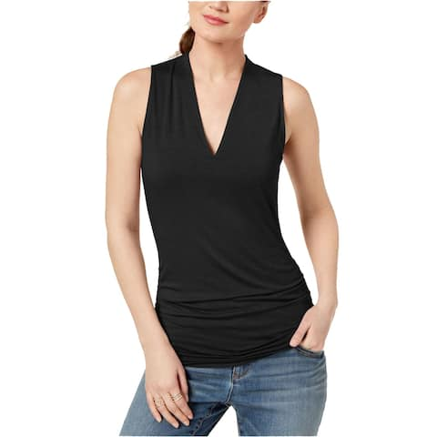 INC International Concepts Women's Ruched V-Neck Top (XXL)
