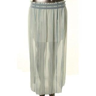 Rachel Roy Womens Georgette Striped Maxi Skirt - XS