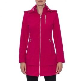 Betsey Johnson Zip Front Jacket with Detachable Hood