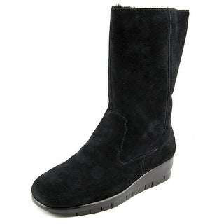 Aerosoles Plantation Women Round Toe Suede Black Winter Boot
