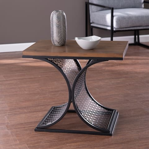 Copper Grove Chindley Brown Wood Accent Table