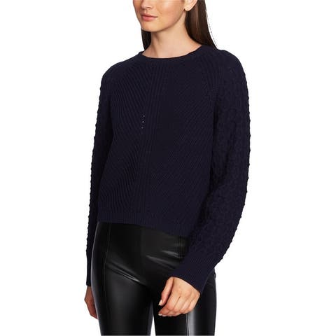1.State Womens Texture Pullover Sweater
