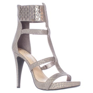 Jessica Simpson Celsus Ankle Cuff Strappy Dress Sandals - Gunmetal