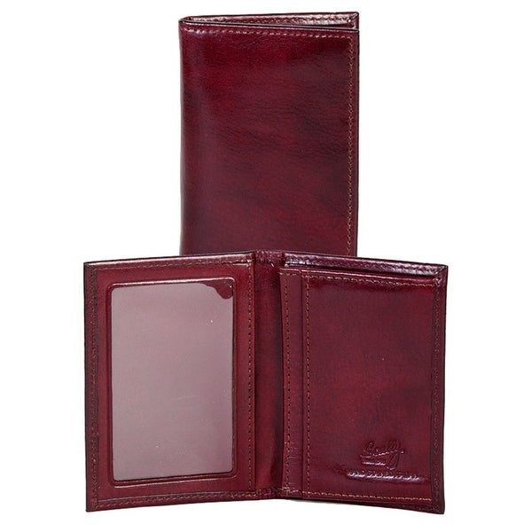 Scully Western Wallet Italian Leather Gusseted Card Case - One size
