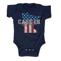 Case Ih Country Patriotic Mn - Case Ih Infant One Piece