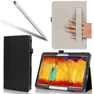 i-BLASON Samsung Galaxy Tab Pro 10.1 Case - Leather Book Cover with Bonus Stylus - Black