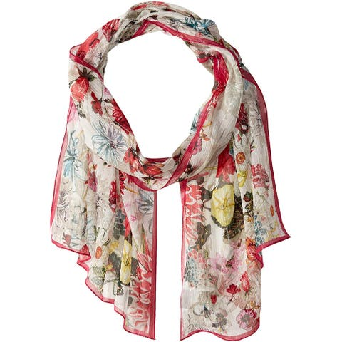 Vince Camuto Women's Wrap Pink One Size Floral Sketch Mix Oblong