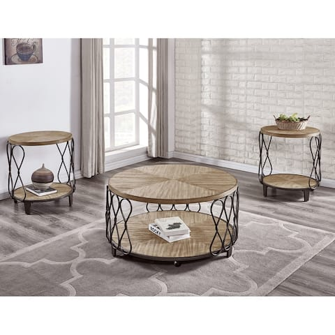 Bellisa Wood and Metal 3-Piece Occasional Set by Greyson Living