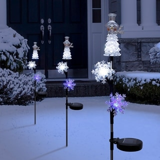Link to Alpine Corporation Snowman Christmas Stake, Solar LED Lights Similar Items in Christmas Decorations