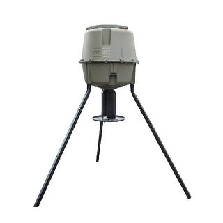 Moultrie MFG-12719 Dinner Plate Feeder with UV & Rust Resistant Tapered Hopper & 30 Gallon Capacity