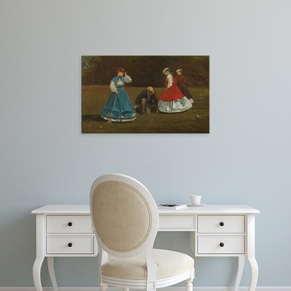 Easy Art Prints WInslow Homer's 'Croquet Scene' Premium Canvas Art