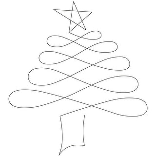 """Quilt Stencils By Patricia Ritter-Christmas Tree 5"""""""