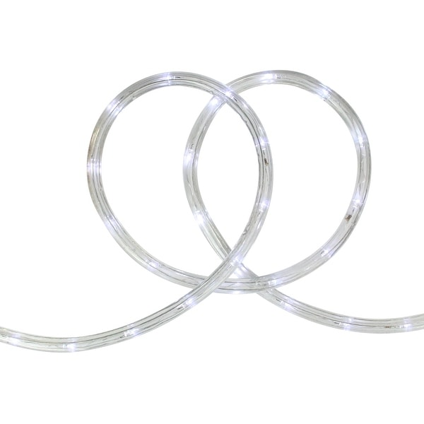 """18' Cool White LED Indoor/Outdoor Christmas Rope Lights - 2"""" Bulb Spacing"""