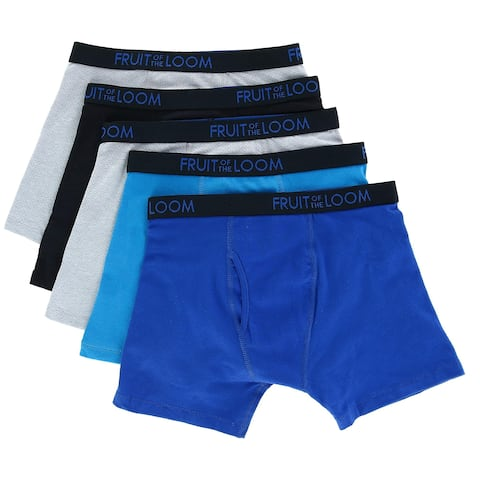 Fruit of the Loom Boy's Breathable Mesh Boxer Briefs Underwear (5 Pair Pack)