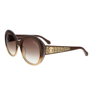 Roberto Cavalli RC983S TEJAT 50F Bronze Gradient Round Feline Sunglasses - bronze gradient - 54-20-140