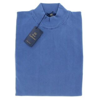 RC Mock Neck Big Mens Denim Blue Sweater