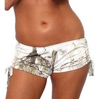 Women's White Camo Authentic True Timber Bikini String shorts ONLY Beach Swimwear
