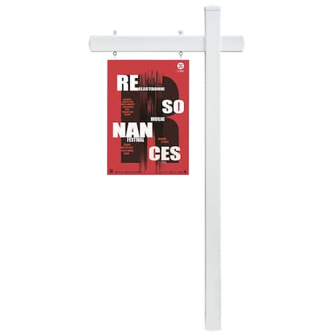 White Vinyl Real Estate Outdoor Yard Hang Sign Realtor Post Display