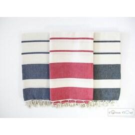 Mykonos Red Turkish Beach Bath Towel,Natural Cotton,Soft,Luxury Towel 67'x39'