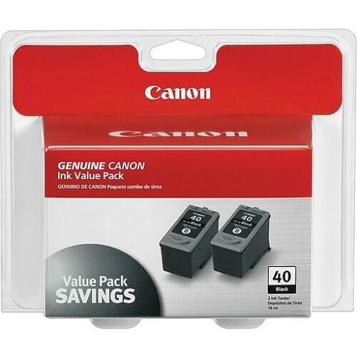 """Canon PG-40 B Ink Cartridge - Black Canon PG-40 Twin Pack Black Ink Cartridge - Inkjet - Black"""