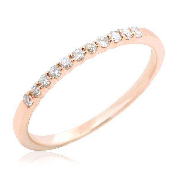 Prism Jewel 0.15Ct Round 1.45MM Natural Diamond Wedding Band
