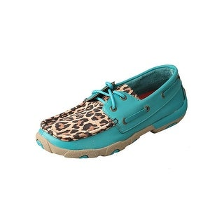 Twisted X Casual Shoes Womens Red Buckle Turquoise Leopard WDM0058