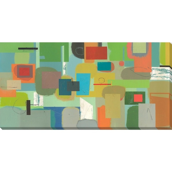 "Vibrantly Colored Printed Rectangular Canvas Wall Art Decor 20"" x 40"" - N/A"