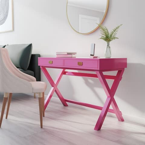 Poppy Raspberry Writing Desk