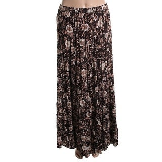 Denim & Supply Womens Floral Print Full-Length Peasant, Boho Skirt - XS