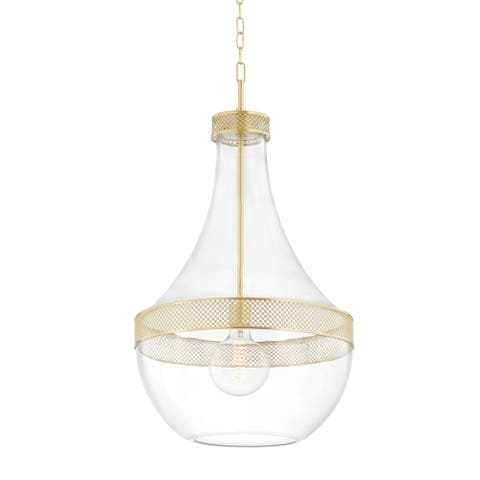 Hudson Valley Hagen 1-Light Pendant with Clear Glass