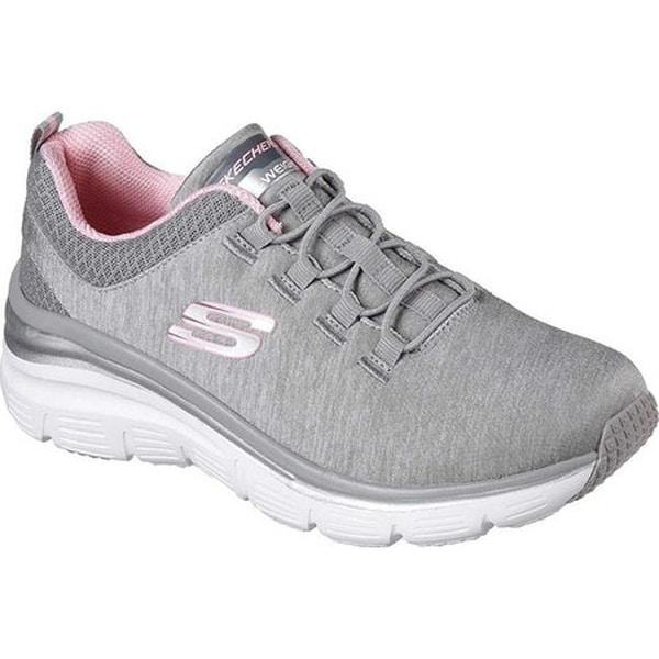 691c97ffd1fb Shop Skechers Women s Fashion Fit Up A Level Sneaker Gray Light Pink ...