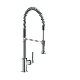 Axor 16582 Montreux Single Handle Semi-Pro Kitchen Faucet with Toggle Spray Dive