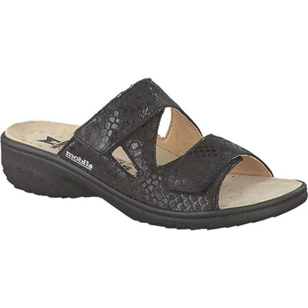 f3066110cc Shop mobils by Mephisto Women's Geva Slide Sandal Black Queen Leather -  Free Shipping Today - Overstock - 14731463