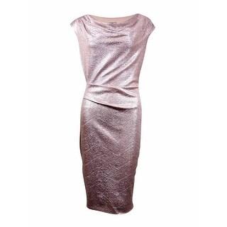 Vince Camuto Women's Metallic Cowl Neck Dress