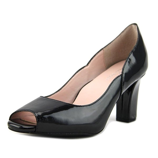 Taryn Rose Francis Women Peep-Toe Synthetic Black Heels