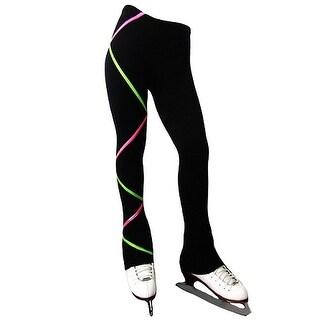 Ice Fire Skate Wear Black Pink Lime Green Criss Cross Pants Girl 4-20