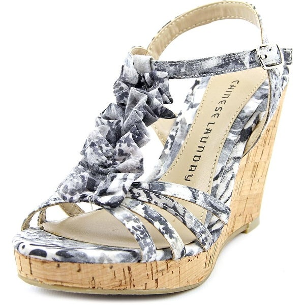Chinese Laundry Venice Beach Open Toe Canvas Wedge Sandal