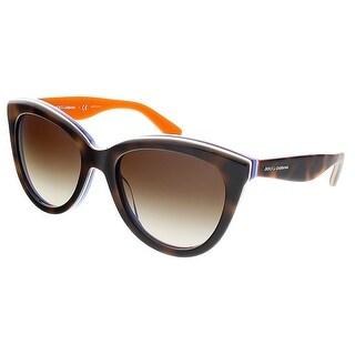 Dolce&Gabbana DG4207 276513 Havana Cateye Sunglasses