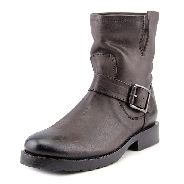 Frye Natalie Short Engineer Women Round Toe Leather Ankle Boot