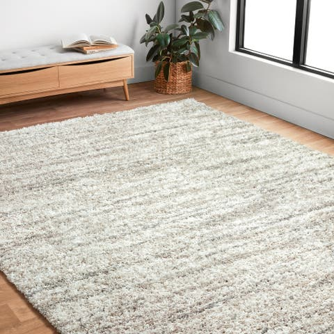 Alexander Home Moroccan Abstract Shag Area Rug