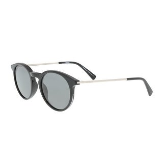 Montblanc MB549/S 01D Black/Silver Round Sunglasses - 49-20-145
