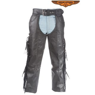 Motorcycle Chaps With Braid & Fringe - Size - M